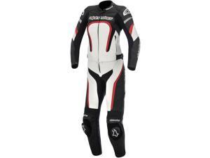 Alpinestars Stella Motegi Womens 2 Piece Leather Suit Black/White/Red 40
