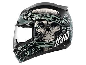 Icon Airmada Vitriol Full Face Helmet  Black/Gray LG