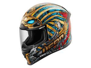 Icon Airframe Pro Pharaoh Helmet Black/Blue/Red MD