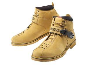 Icon SuperDuty 4 Motorcycle Boots Wheat 10.5