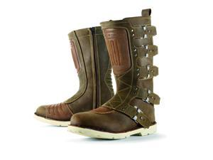 Icon 1000 Elsinore Leather Street Boots Oiled Brown 8
