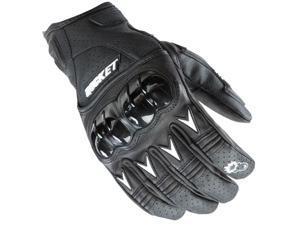 Joe Rocket Superstock Leather Gloves Black/White LG