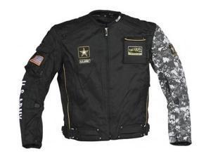 Joe Rocket US Army Alpha Textile Jacket Black/Gray Camo LG