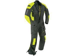 Joe Rocket Survivor 1-pc Textile Suit Black/Hi-Viz Neon MD