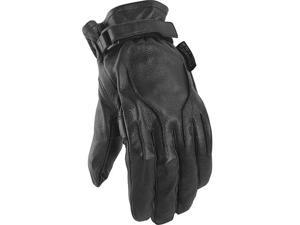 Power Trip Jet Black Womens Leather Gloves Black XS
