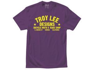 Troy Lee Designs Raceshop Youth Short Sleeve T-Shirt Purple MD