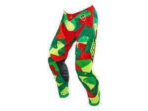 Troy Lee Designs SE Air Cosmic Camo 2016 MX/OFfroad Pants Green/Yellow/Red/Orange 32