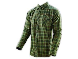 Troy Lee Designs Washboard Mens Woven Button Up Long Sleeve Shirt Green 2XL
