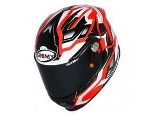 Suomy SR Sport Diamond Full Face Motorcycle Helmet Orange LG