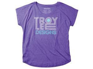 Troy Lee Designs Linear Dolman Womans Short Sleeve T-Shirt Heather Purple XL