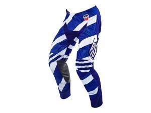 Troy Lee Designs SE Air Caution 2016 MX/Offroad Pants White/Navy Blue 36