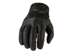 Z1R 270 Mens Perforated Leather Gloves Black MD