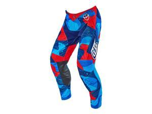 Troy Lee Designs SE Air Cosmic Camo 2016 MX/OFfroad Pants Blue/Red 30