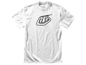 Troy Lee Designs Logo Mens Short Sleeve T-Shirt White/Black XL