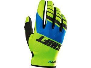 Shift Assault 2016 MX/Offroad Gloves Blue/Yellow XL