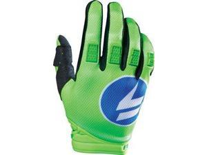 Shift Strike 2016 MX/Offroad Gloves Blue/Green 2XL
