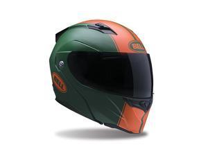 Bell Revolver Evo Rally Helmet Matte Green/Orange MD