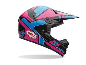 Bell SX-1 Offroad Helmet Stack Blue/Pink MD