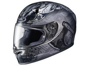 HJC FG-17 Valhalla Helmet Matte Black/Gray MD