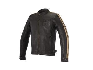 Alpinestars Charlie Mens Leather Jacket Brown MD