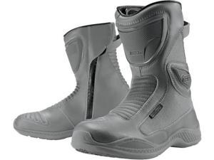 Icon Womens Reign Waterproof Street Boots Gray 6