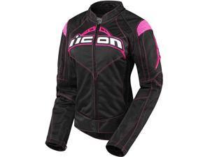 Icon Contra Womens Textile Jacket Black/Pink SM