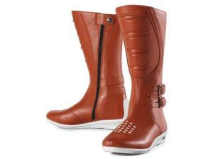 Icon Womens Sacred Tall Leather Boots Brown 5