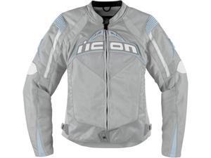 Icon Contra Womens Textile Jacket Silver XL