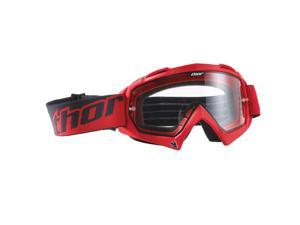 Thor Enemy MX Motocross Goggles Red Adult