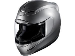 Icon Airmada Gloss Street Helmet Medallion Silver MD