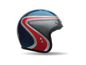 Bell Custom 500 Airtrix SE Heritage Motorcycle Helmet  Blue/Red/Silver MD