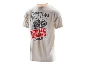 Troy Lee Designs Lightning Fast Mens Short Sleeve T-Shirt Natural White MD