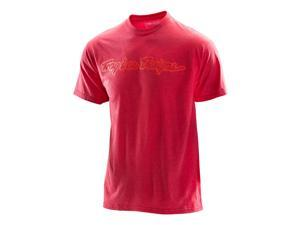 Troy Lee Designs Signature 2016 Mens Short Sleeve T-Shirt Heather Red MD
