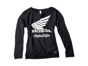 Troy Lee Designs 2016 Honda Wing Womens Long Sleeve T-Shirt Black/White LG