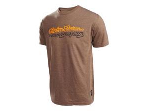Troy Lee Designs All Time 2016 Mens Short Sleeve T-Shirt Heather Brown SM