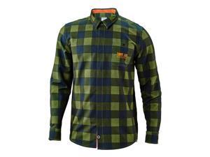 Troy Lee Designs Grind 2016 Mens Flannel Army Green LG