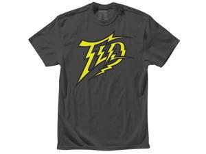 Troy Lee Designs Bolty Mens Short Sleeve T-Shirt Charcoal Gray SM