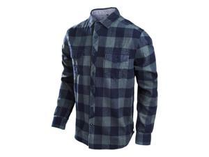 Troy Lee Designs Octane 2016 Mens Long Sleeve Plaid Button Up Charcoal Gray XL