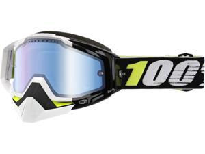 100% Racecraft Snow Emrata Snow Goggles Black/Mirrored Lens OS