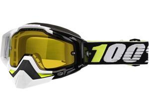100% Racecraft Snow Emrata Snow Goggles Black/Yellow Lens OS