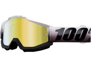 100% Accuri Invaders MX/Offroad Goggles Black/Mirrored Lens OS