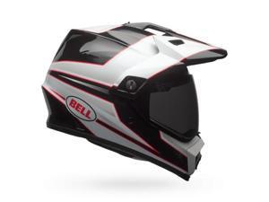 Bell MX-9 Adventure Stryker Dual Sport Helmet Black/White LG