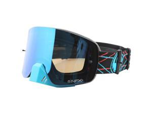 Dragon NFXS MX Goggles Pinned/Black/Blue Steel Lens