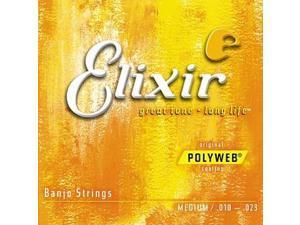 Elixir Banjo Light Strings - Polyweb