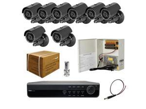 8ch DVR Package - H.264 ELITE DVR, 700 TVL Bullet IR Cameras, Power Supply and Cables, 3G phone support ( with 1TB HDD )