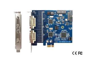 Genuine geovision GV-900A-16 DVR card 16ch Video Inputs 240fps v8.5 software 64 bit Windows 7 support