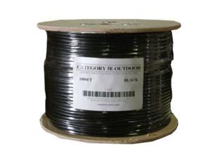 1000'FT High Quality CAT5 e OUTDOOR UNDERGROUND BURIAL CABLE WIRE WATERPROOF UV THICK 23-AWG