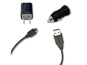 USB Data Cable + AC Wall & Car Charger for Samsung Galaxy Note 2 II GT N7100