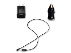 USB Data Cable Cord + AC Wall Charger+ Car Charger for MetroPCS LG Beacon MN270