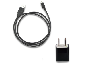 AC Wall Charger + USB Sync Data Cable for TraceFone Samsung R375C SCH-R375C